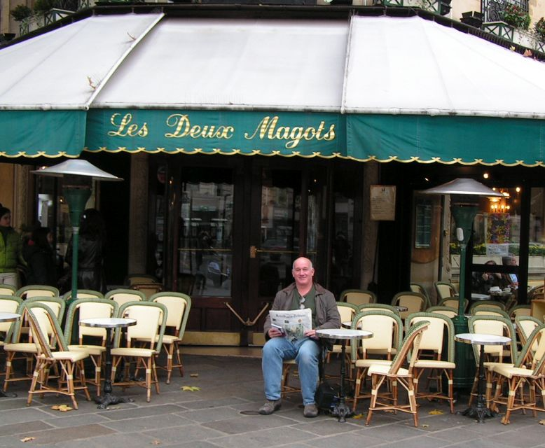 Matt at Deux Magots Paris